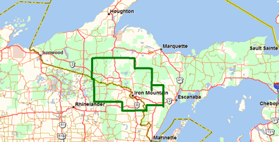 Upper Peninsula Coverage Area